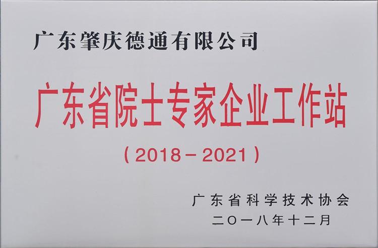 广东省院士专家企业工作站